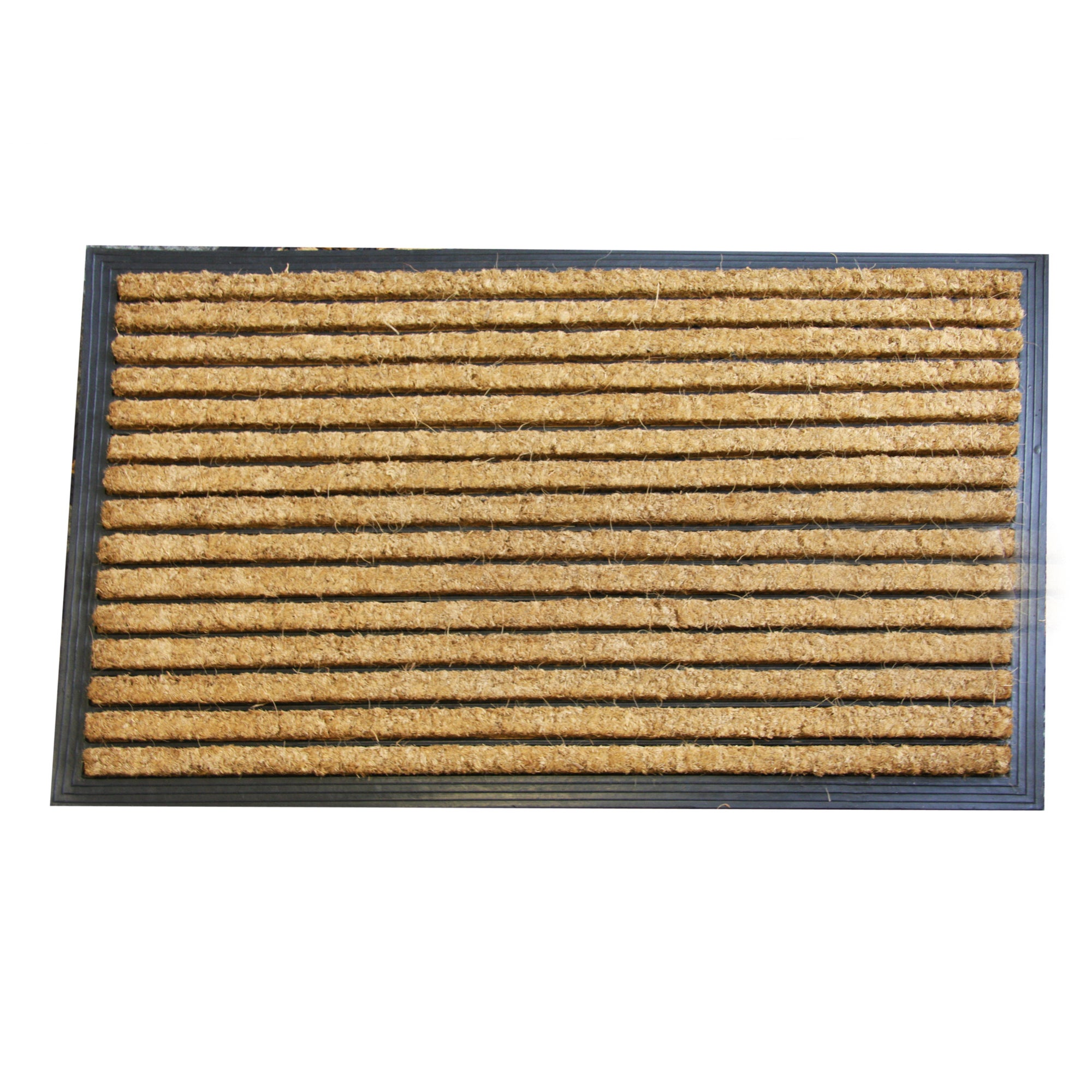 Jumbo Stripe Rubber and Coir Doormat