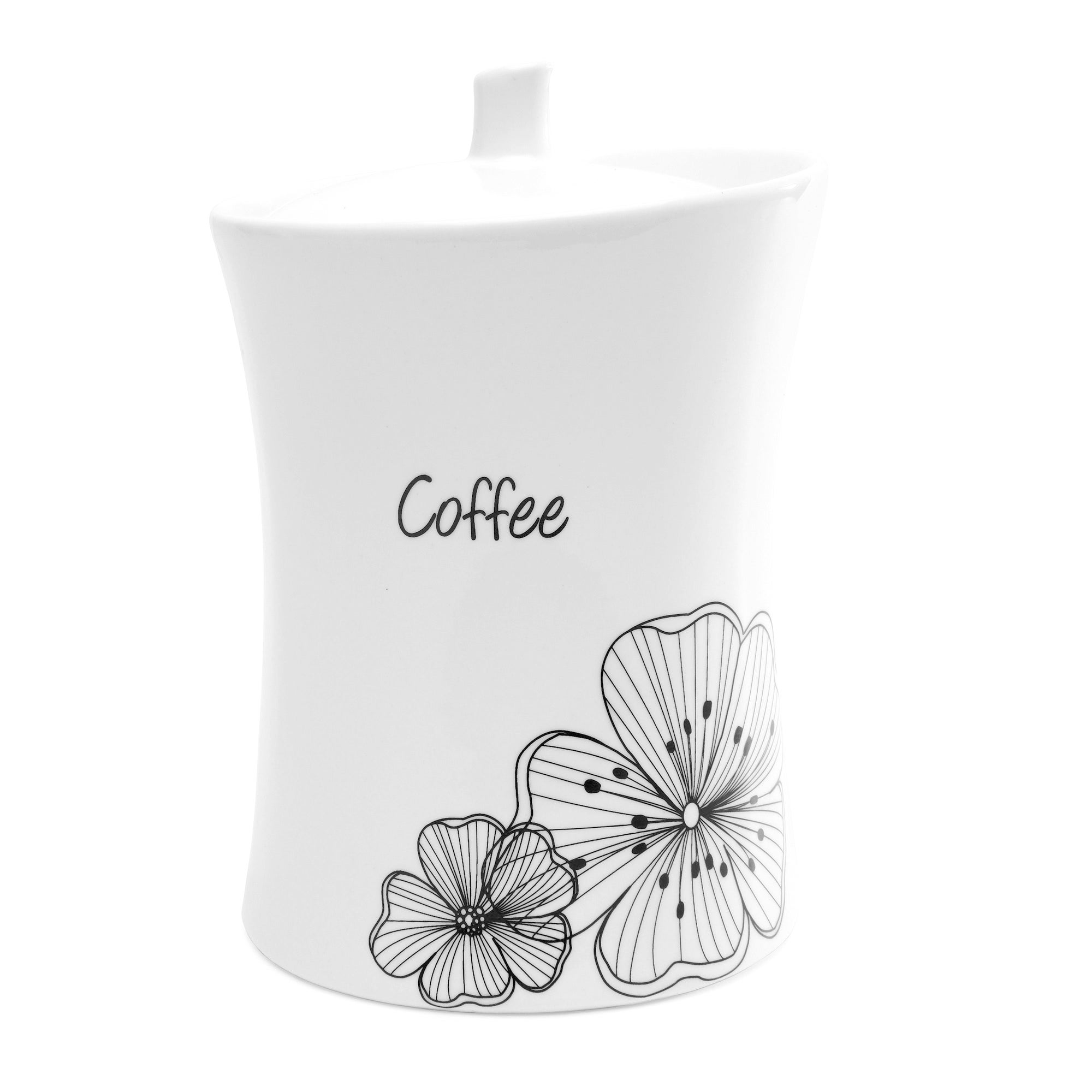 Ava Flower Collection Coffee Storage Jar