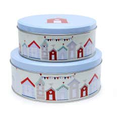 Brighton Beach Hut Collection Set of 2 Cake Tins