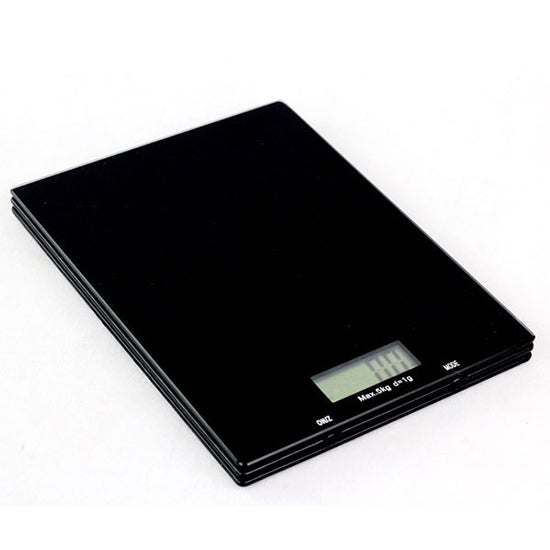 Cookshop Black 5kg LCD Kitchen Scales