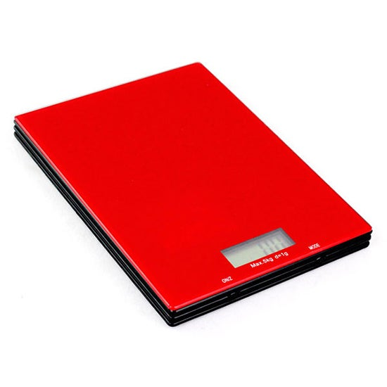 Cookshop Red 5Kg LCD Kitchen Scales