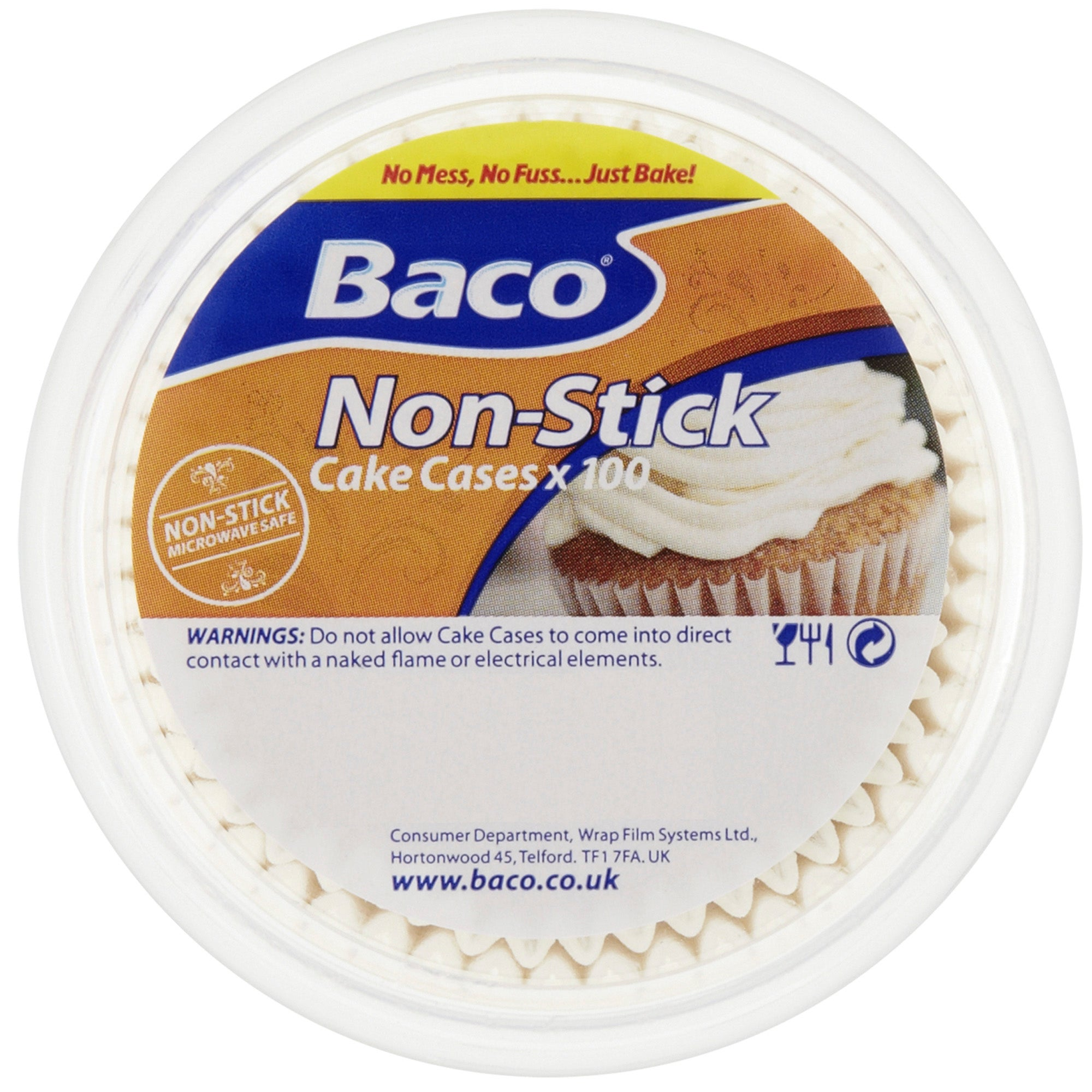 Baco Pack of 100 Cake Cases