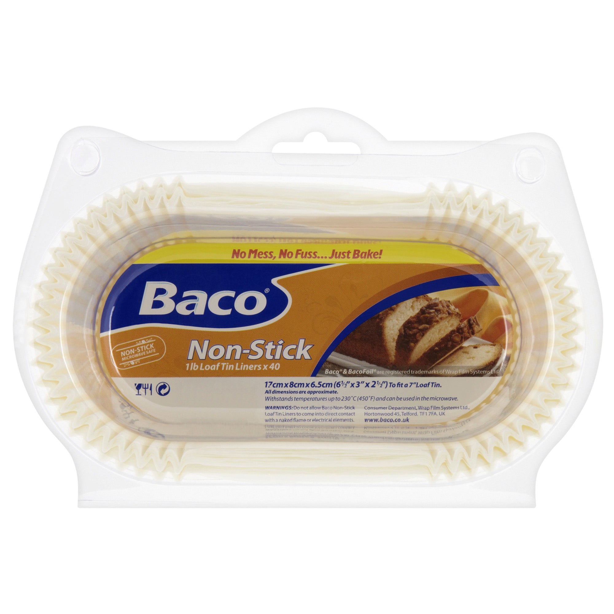 Baco Pack of 40 Loaf Tin Liners
