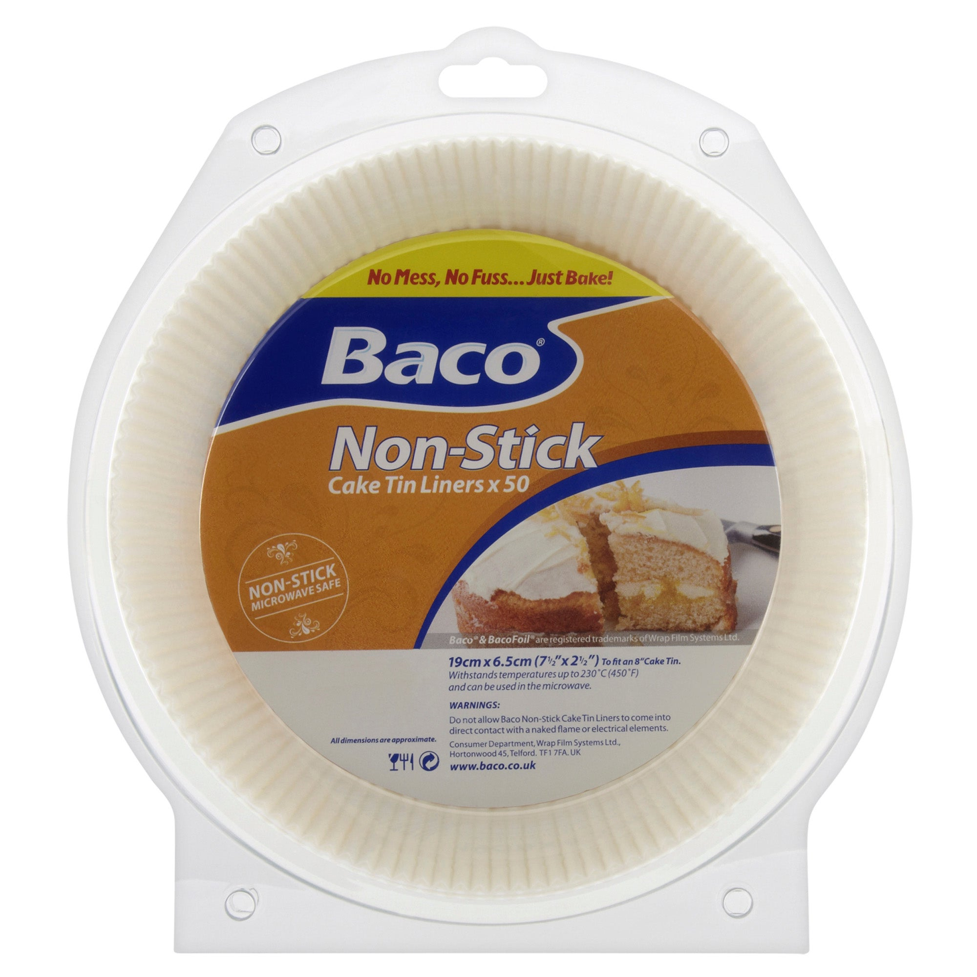 Baco Pack of 50 Cake Tin Liners