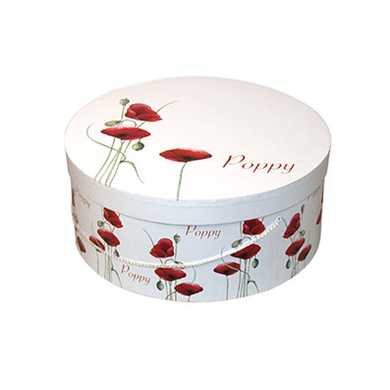 Red Poppy Collection Round Storage Box