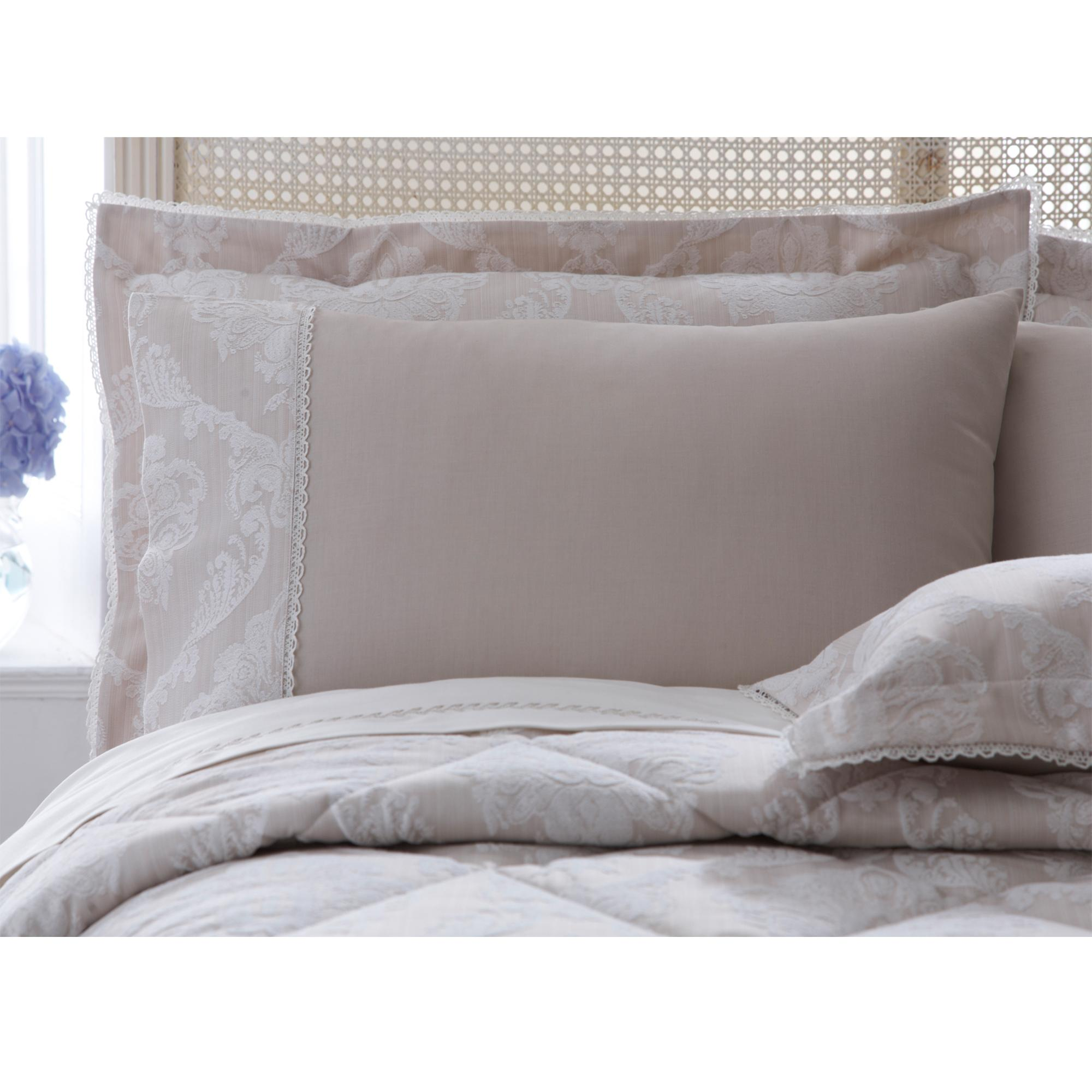 Dorma Natural Aveline Collection Cuffed Pillowcase