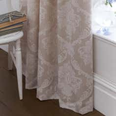 Dorma Natural Aveline Lined Pencil Pleat Curtains