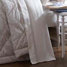 Dorma Natural Aveline Collection Flat Sheet