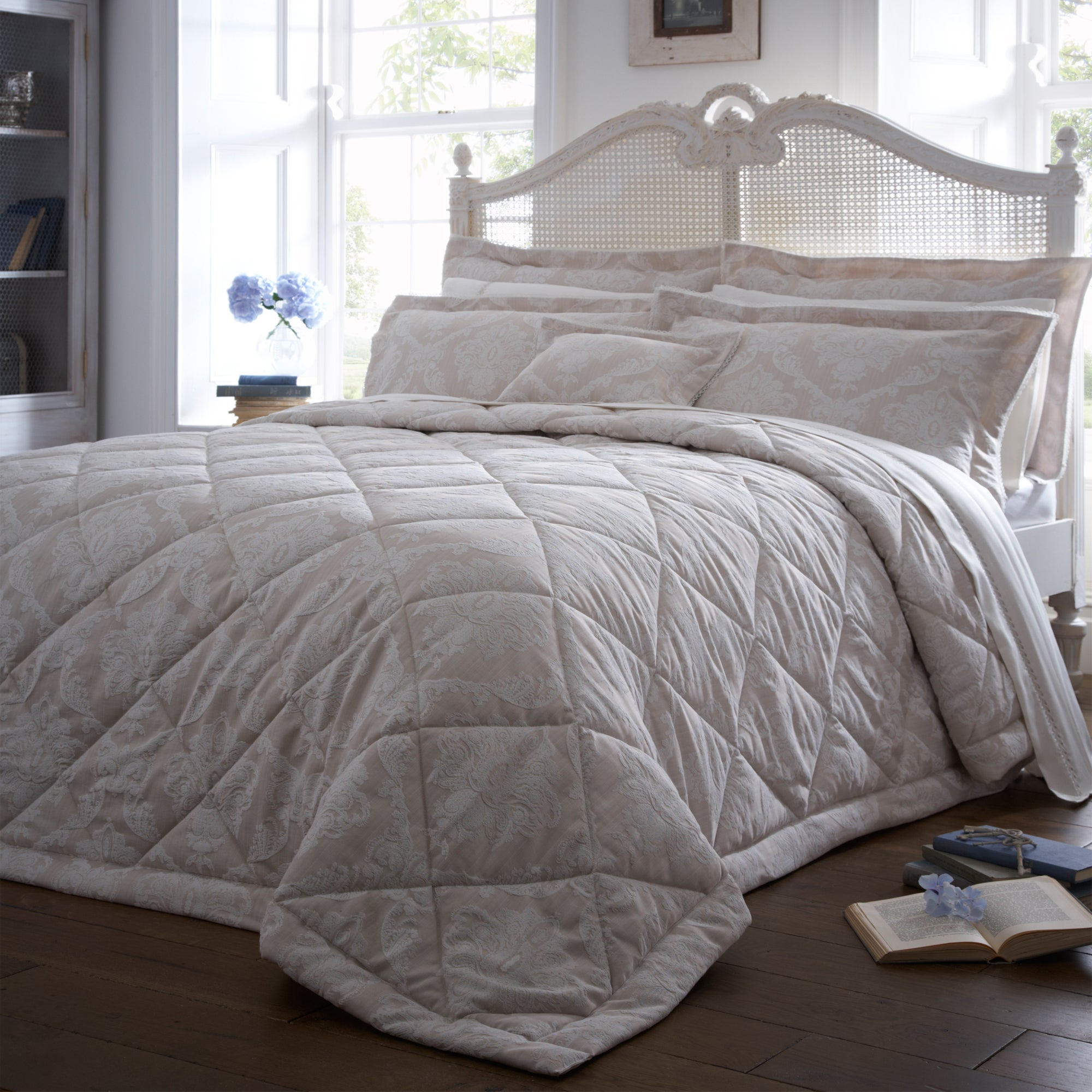 Dorma Natural Aveline Collection Quilted Throw
