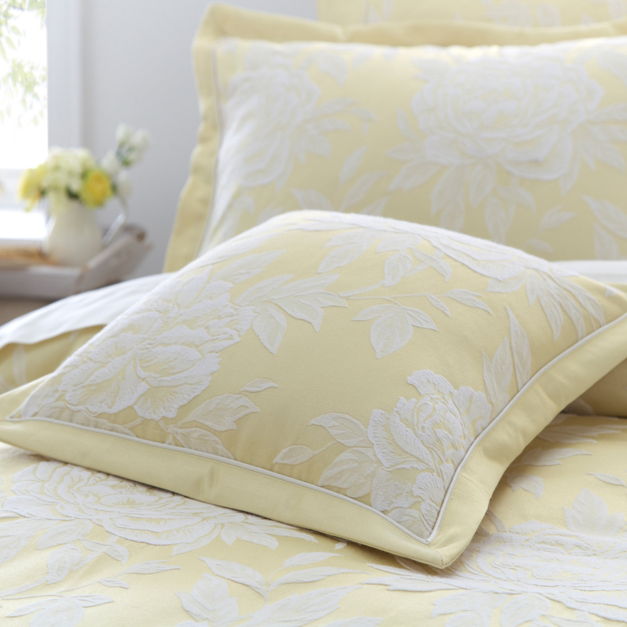 Dorma Lemon Chatsworth Collection Cushion