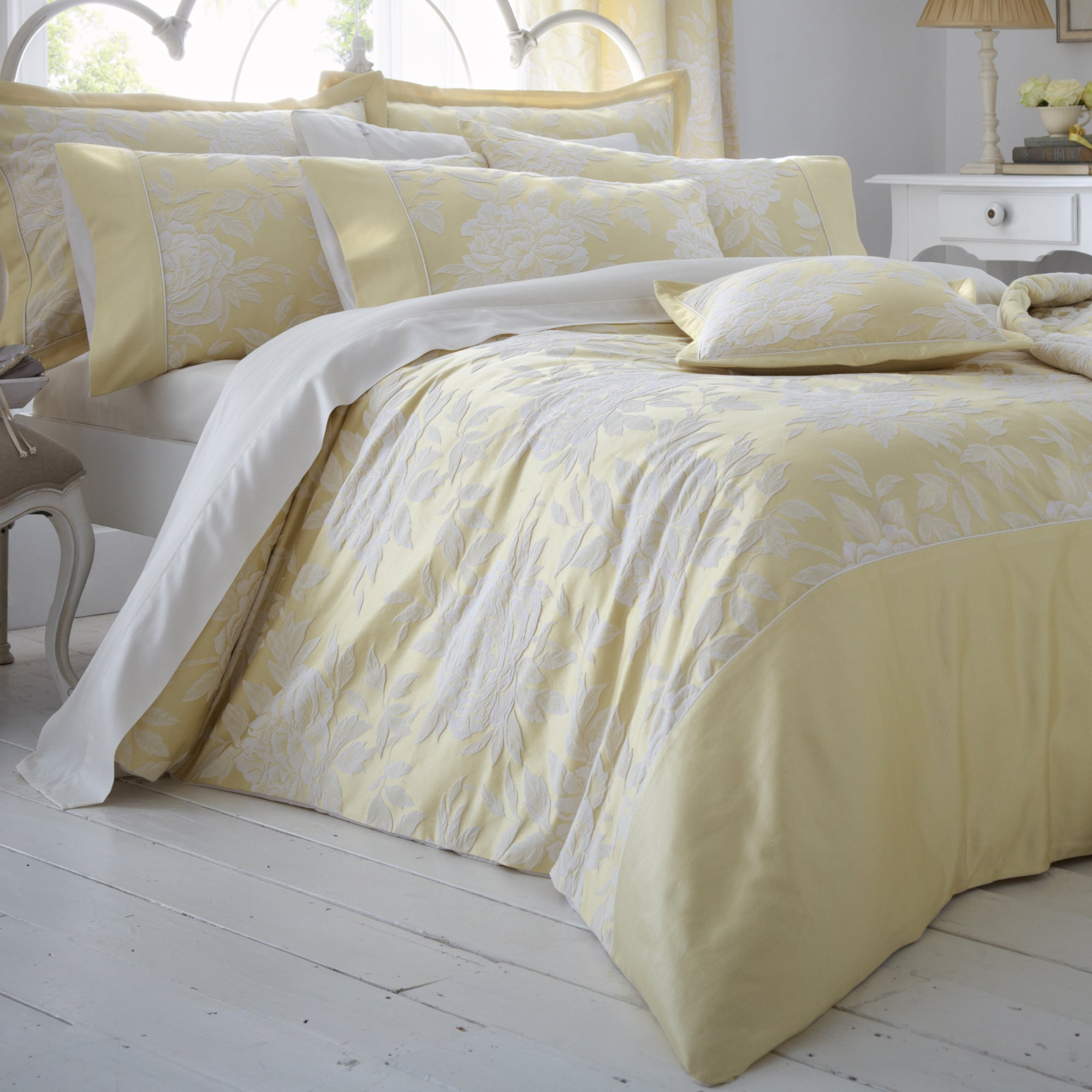 Dorma Lemon Chatsworth Bedlinen Collection