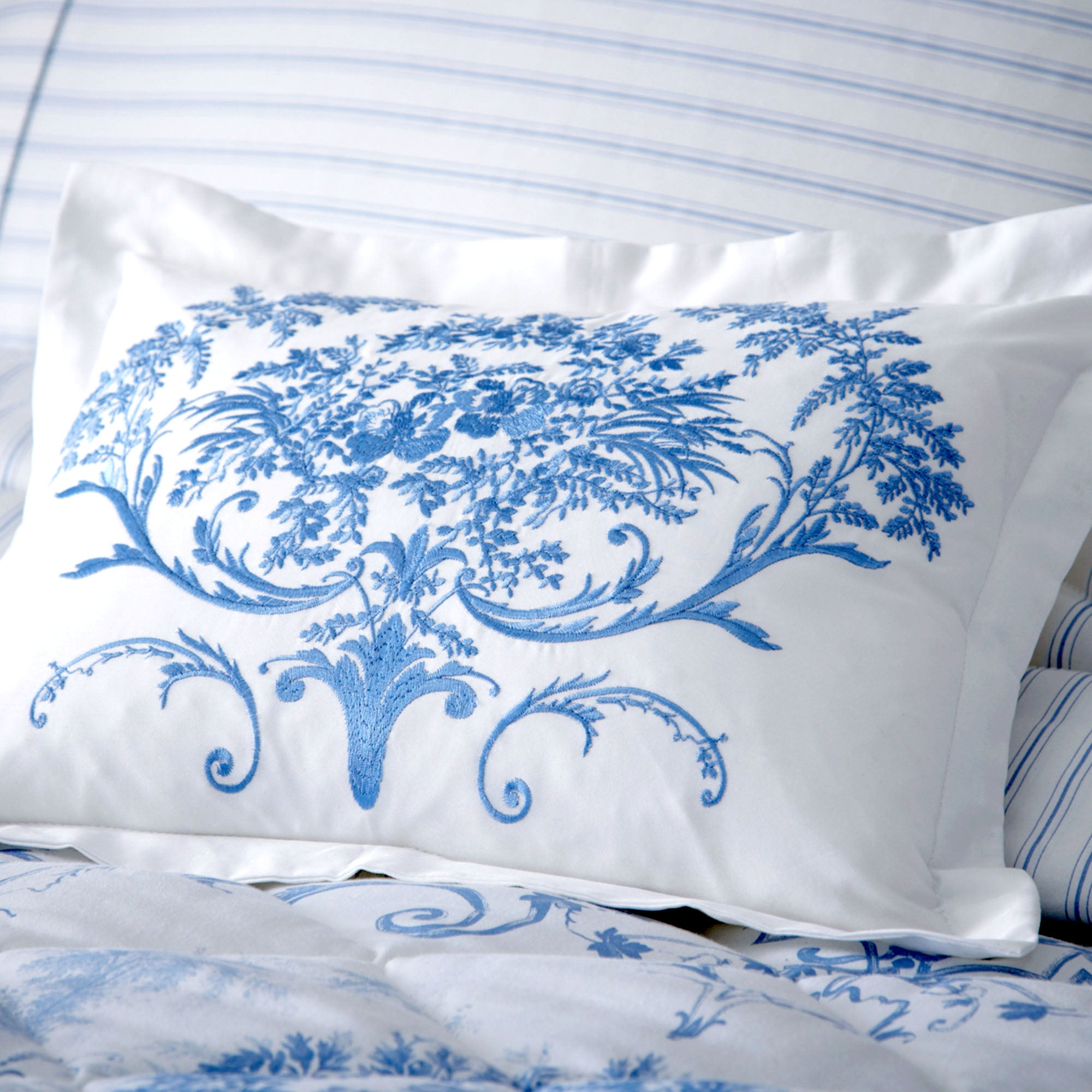 Dorma Blue Toile Collection Cushion