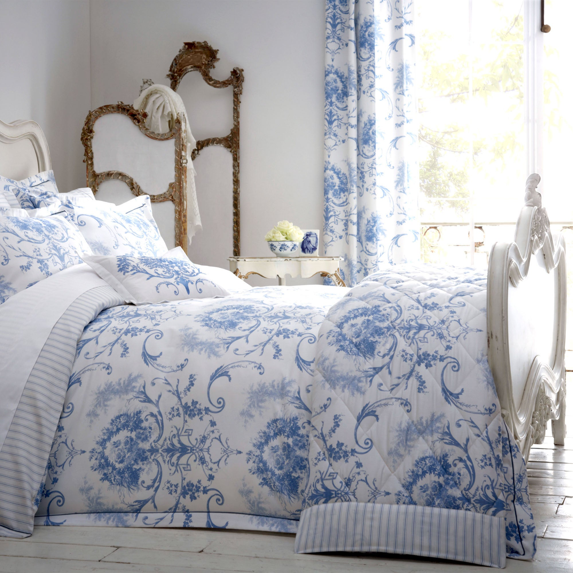Dorma Blue Toile Collection Duvet Cover Dunelm