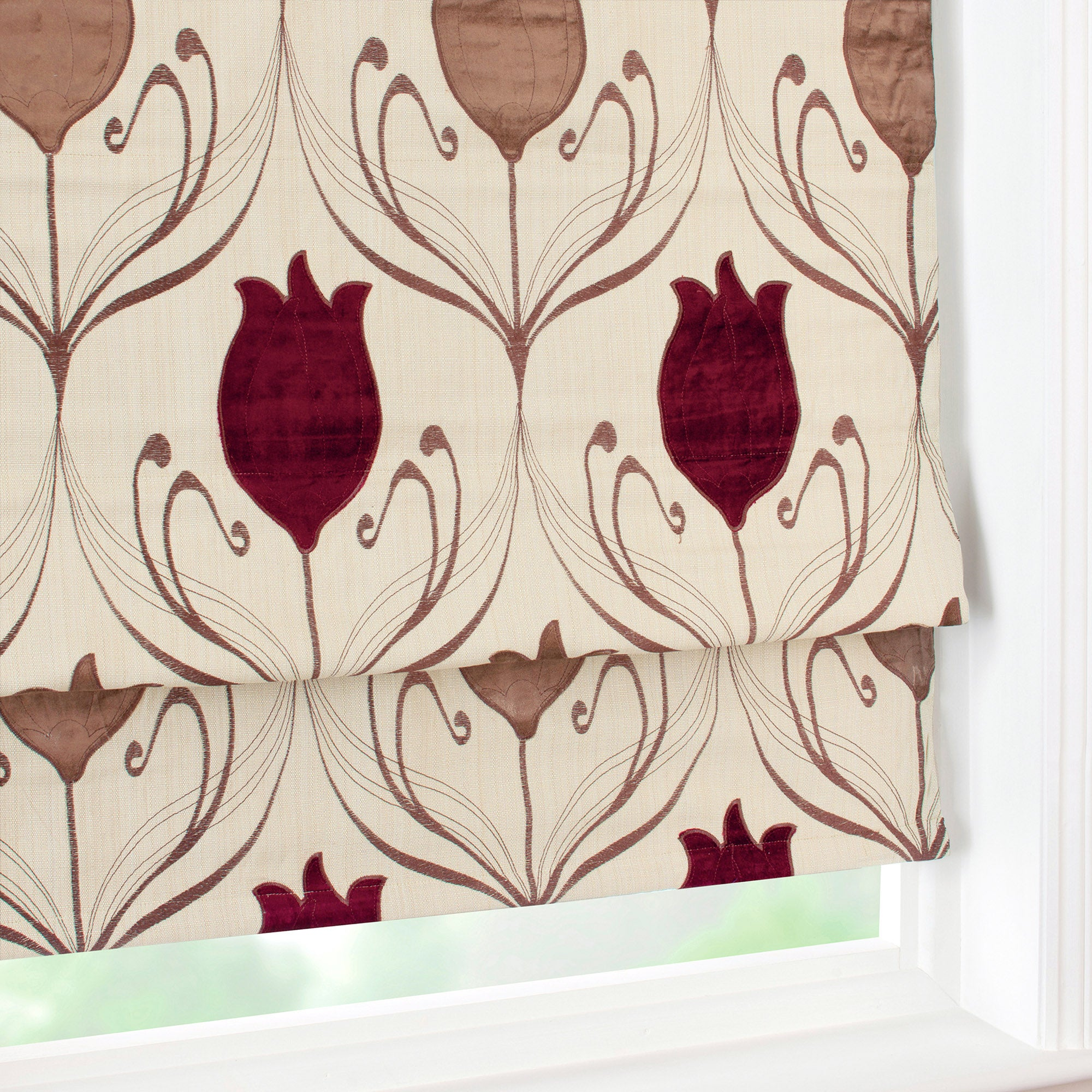 Wine Lalique Collection Blackout Roman Blind