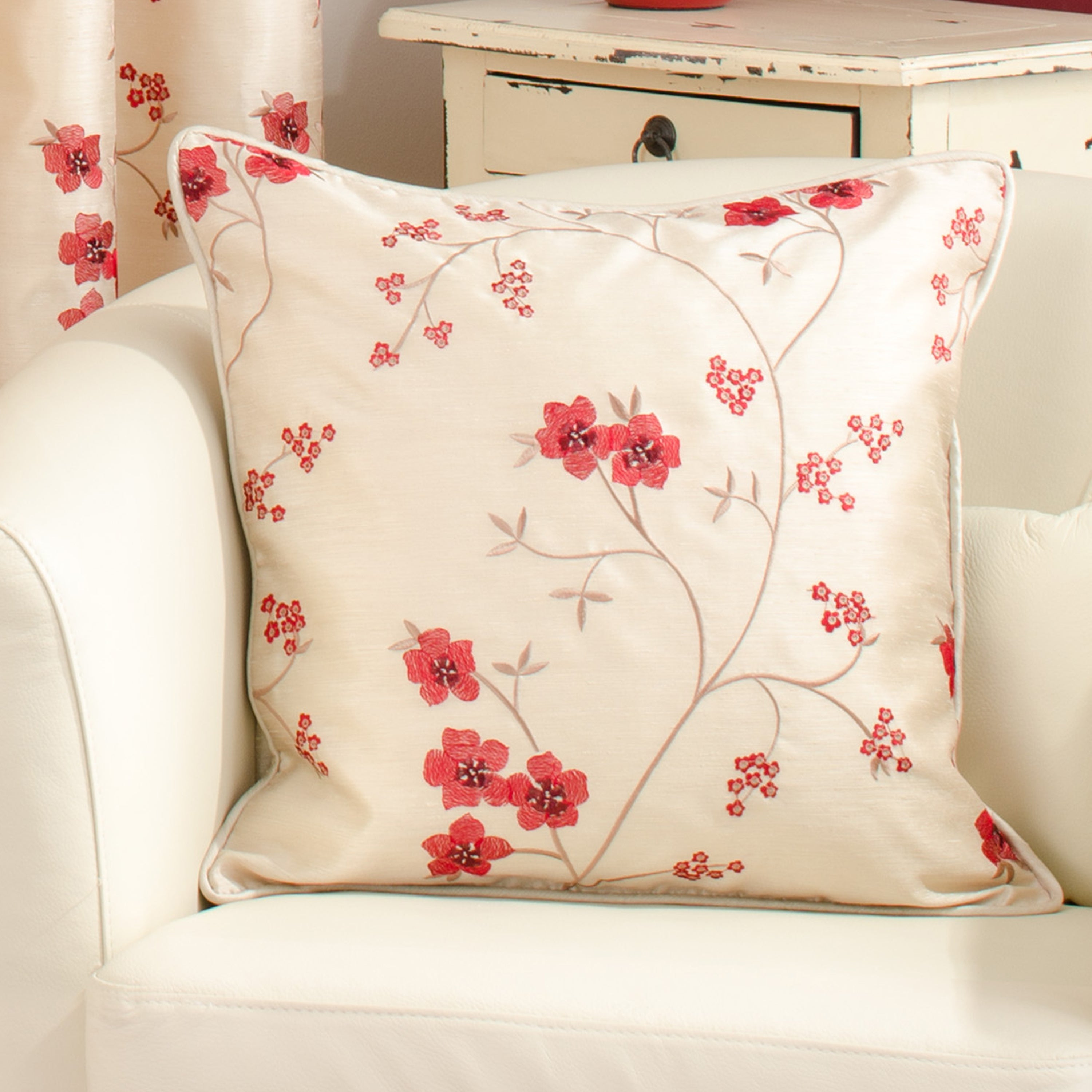Waters and Noble Red Melody Collection Cushion