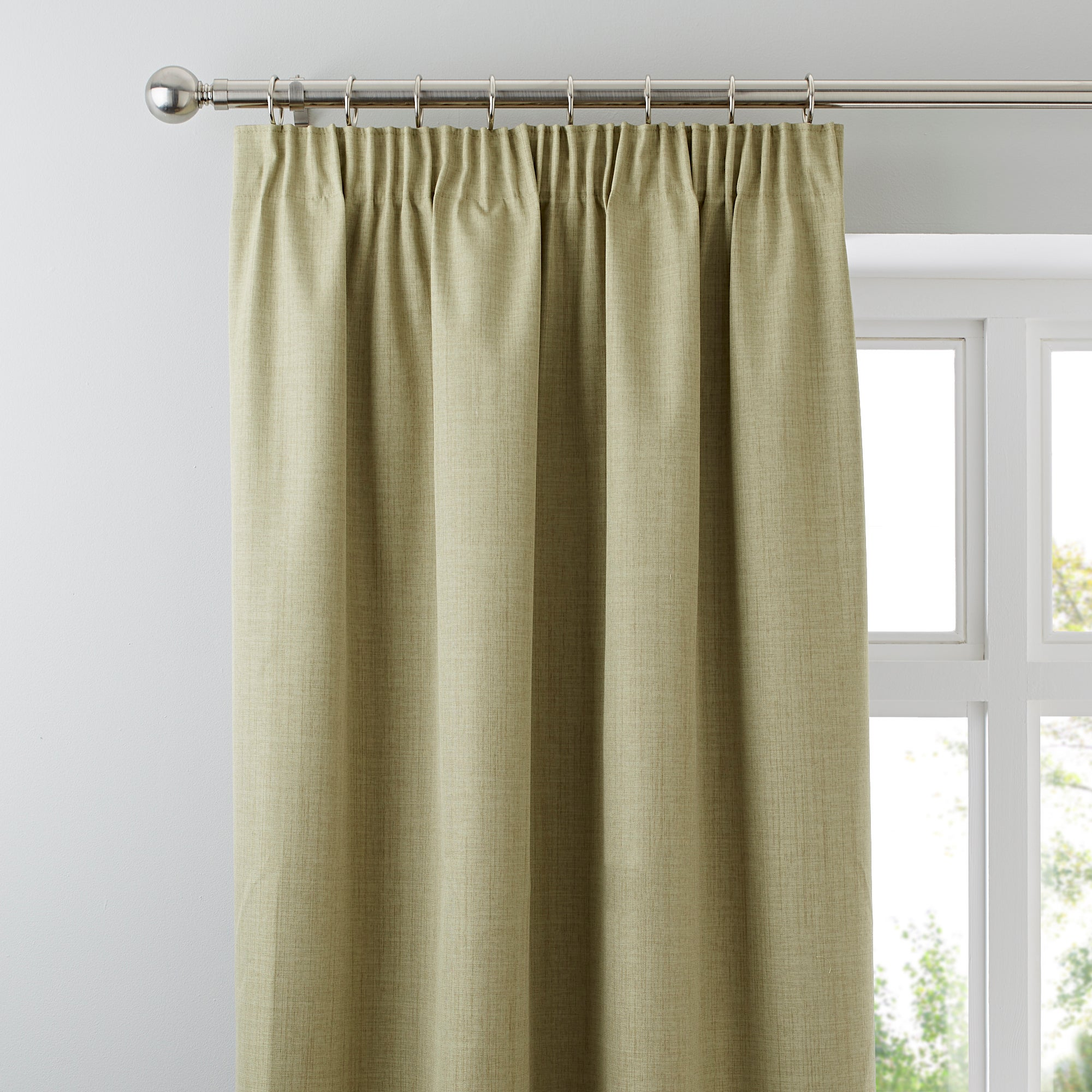 Waters and Noble Green Solar Blackout Pencil Pleat Curtains