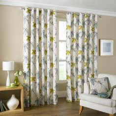 Duck Egg Romolo Lined Eyelet Curtains