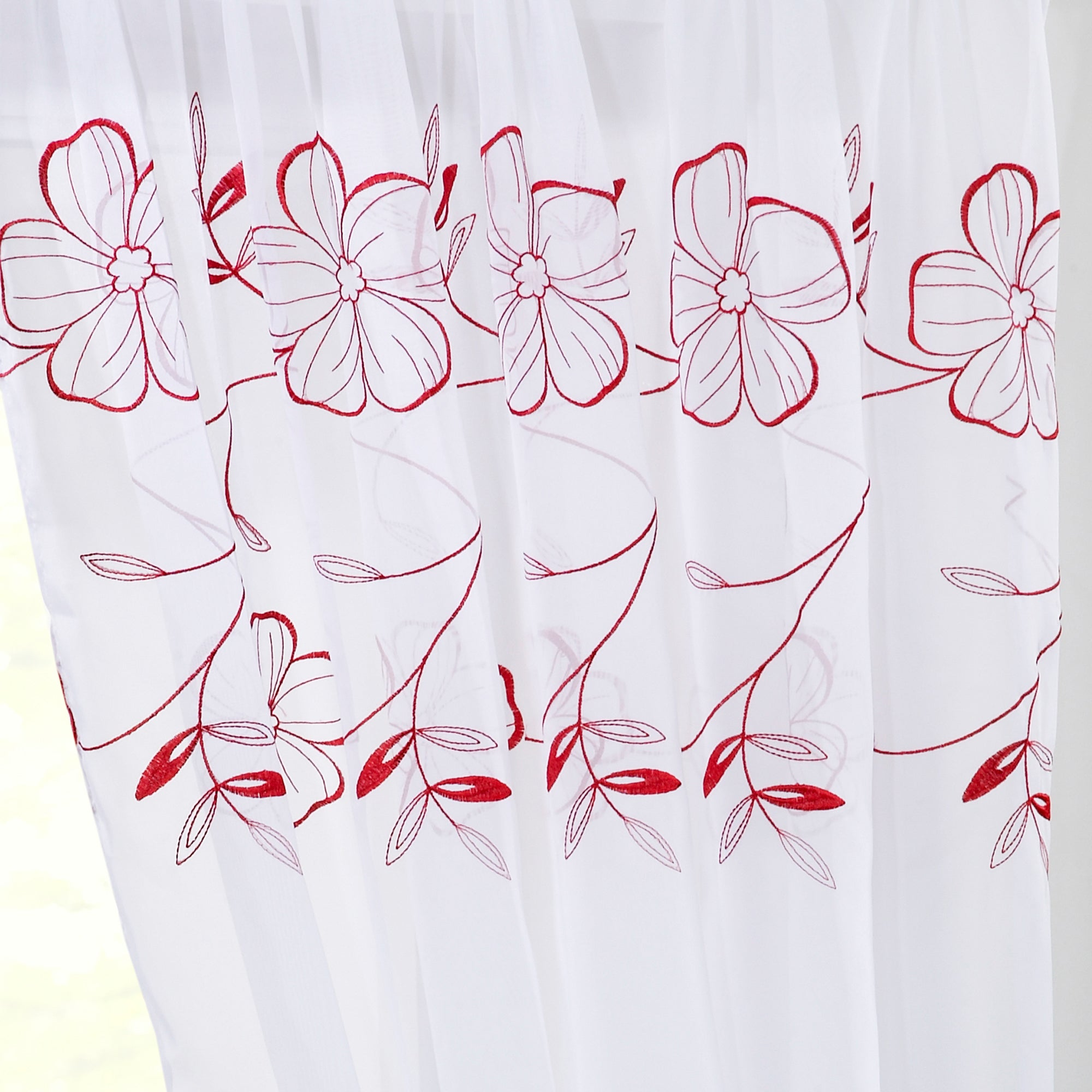 Red Pansy Voile Panel