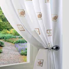 Cream Fern Voile Panel