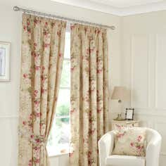 Pink Berkshire Lined Pencil Pleat Curtains