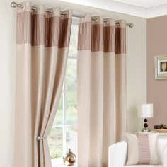 Taupe Montreal Lined Eyelet Curtains