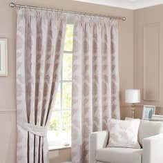 Cream Windsor Lined Pencil Pleat Curtains