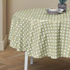 Dotty Collection Round PVC Tablecloth