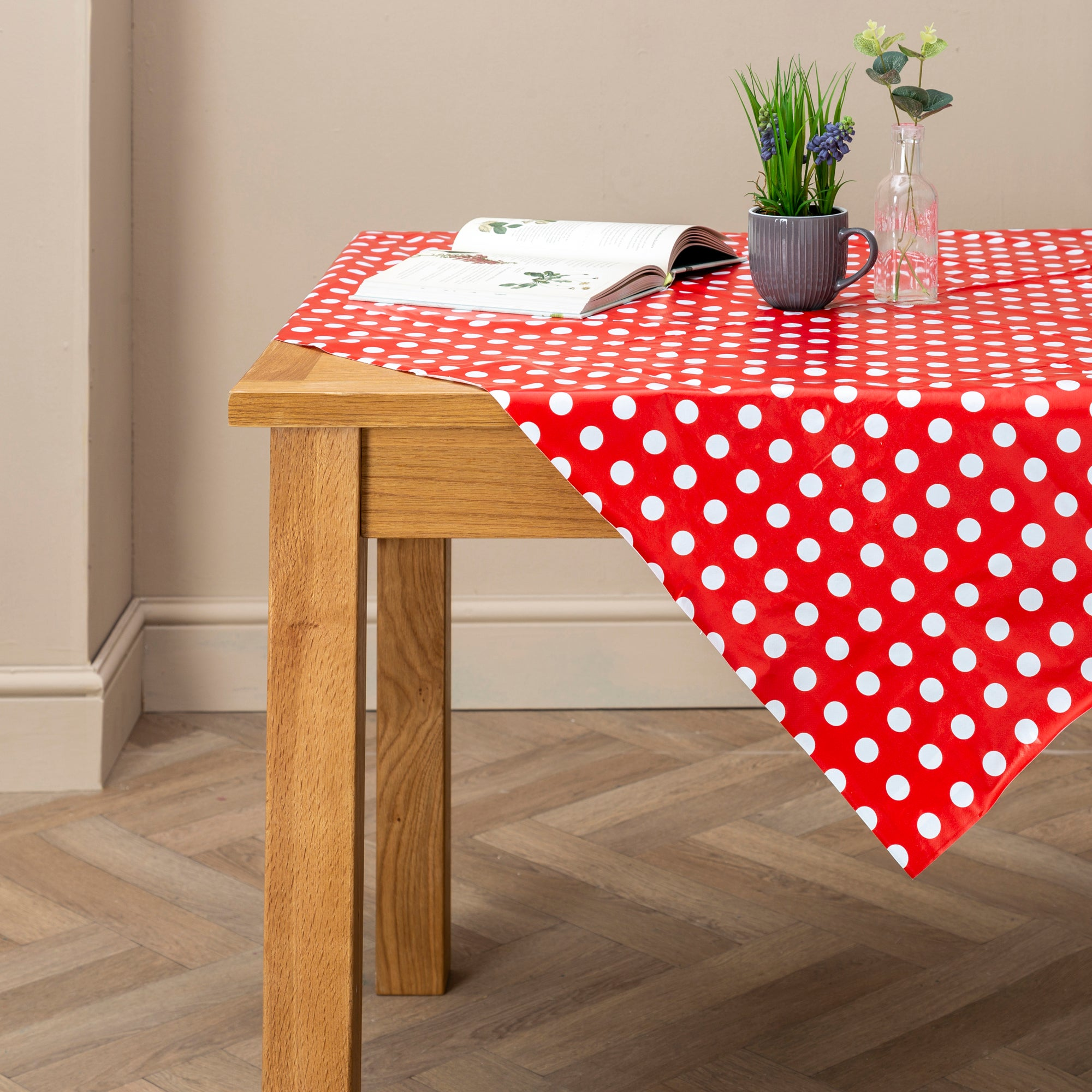 Dotty Collection Rectangle PVC Tablecloth