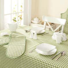 Green Gingham Collection Tablecloth