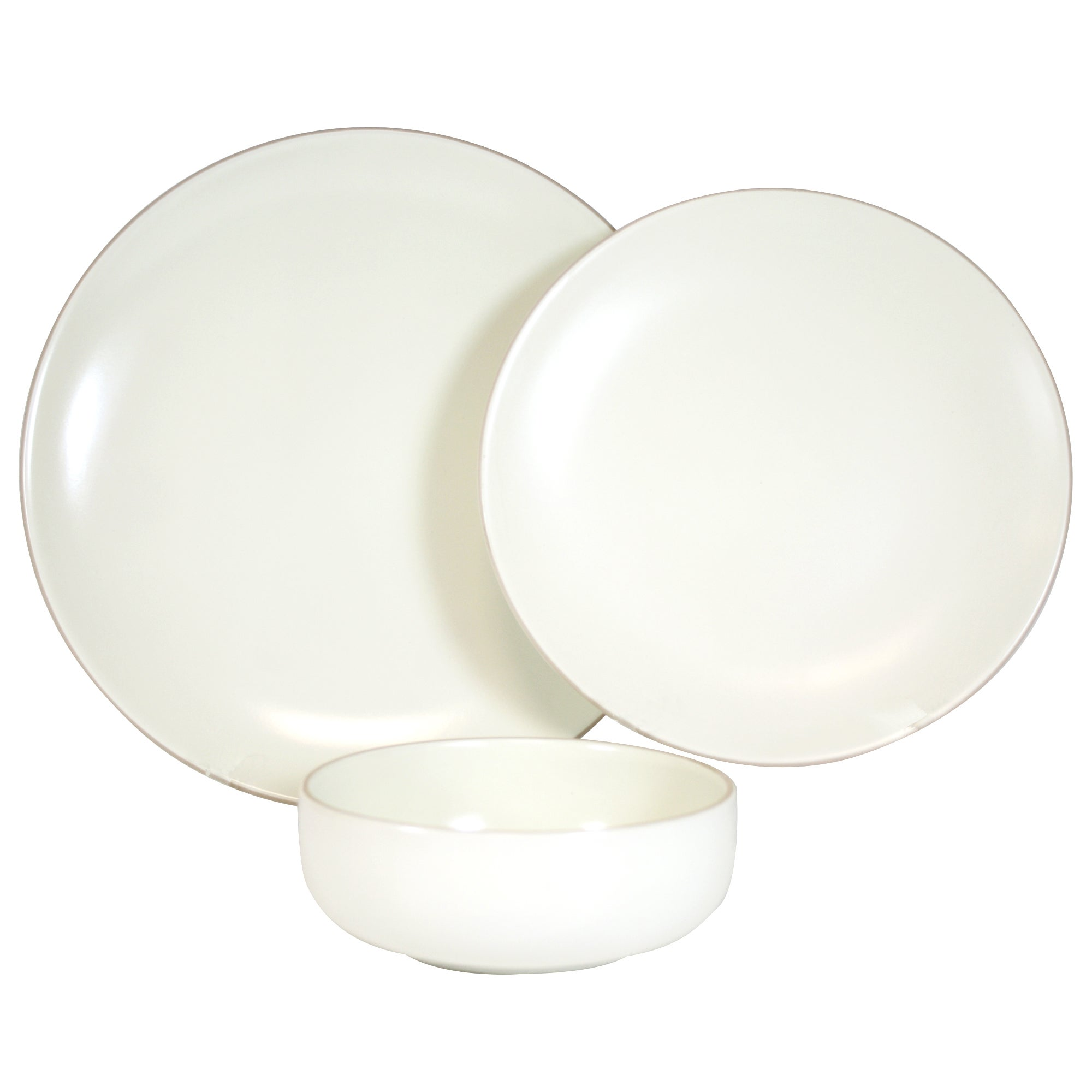 Cream Monaco Collection 12 Piece Dinner Set