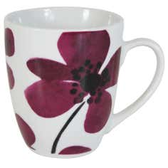 Plum Painted Poppy Collection Mug