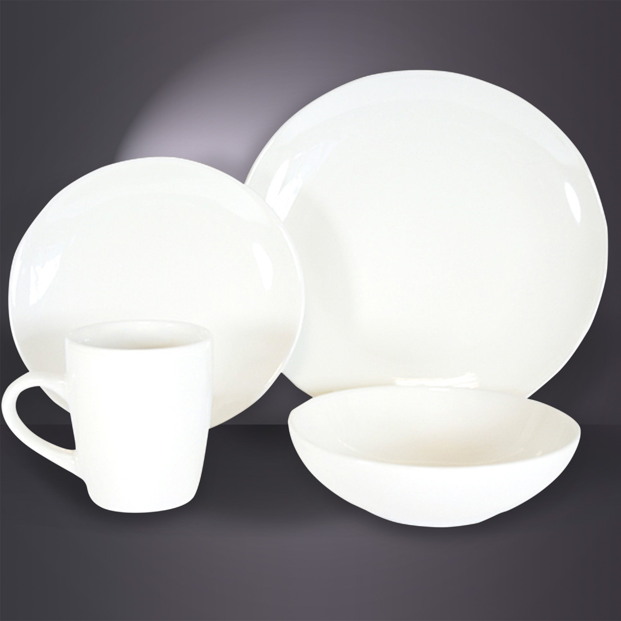Cream Simply Round 16 Piece Dinner Set