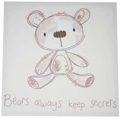 Kids Bedtime Bear Collection Canvas
