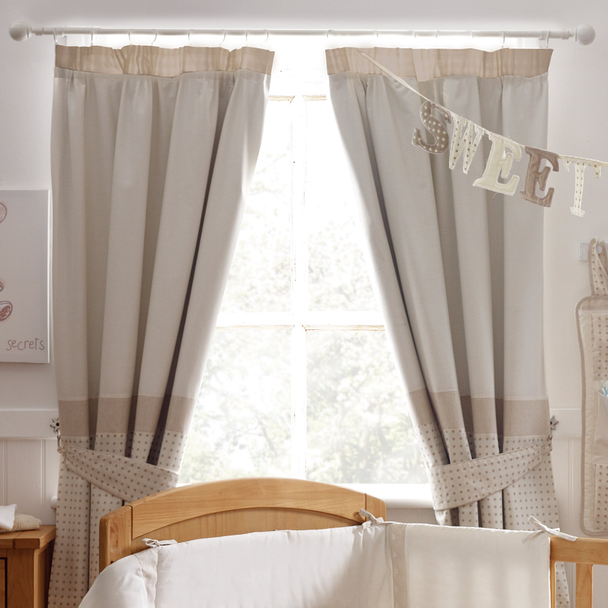 Kids Bedtime Bear Blackout Pencil Pleat Curtains