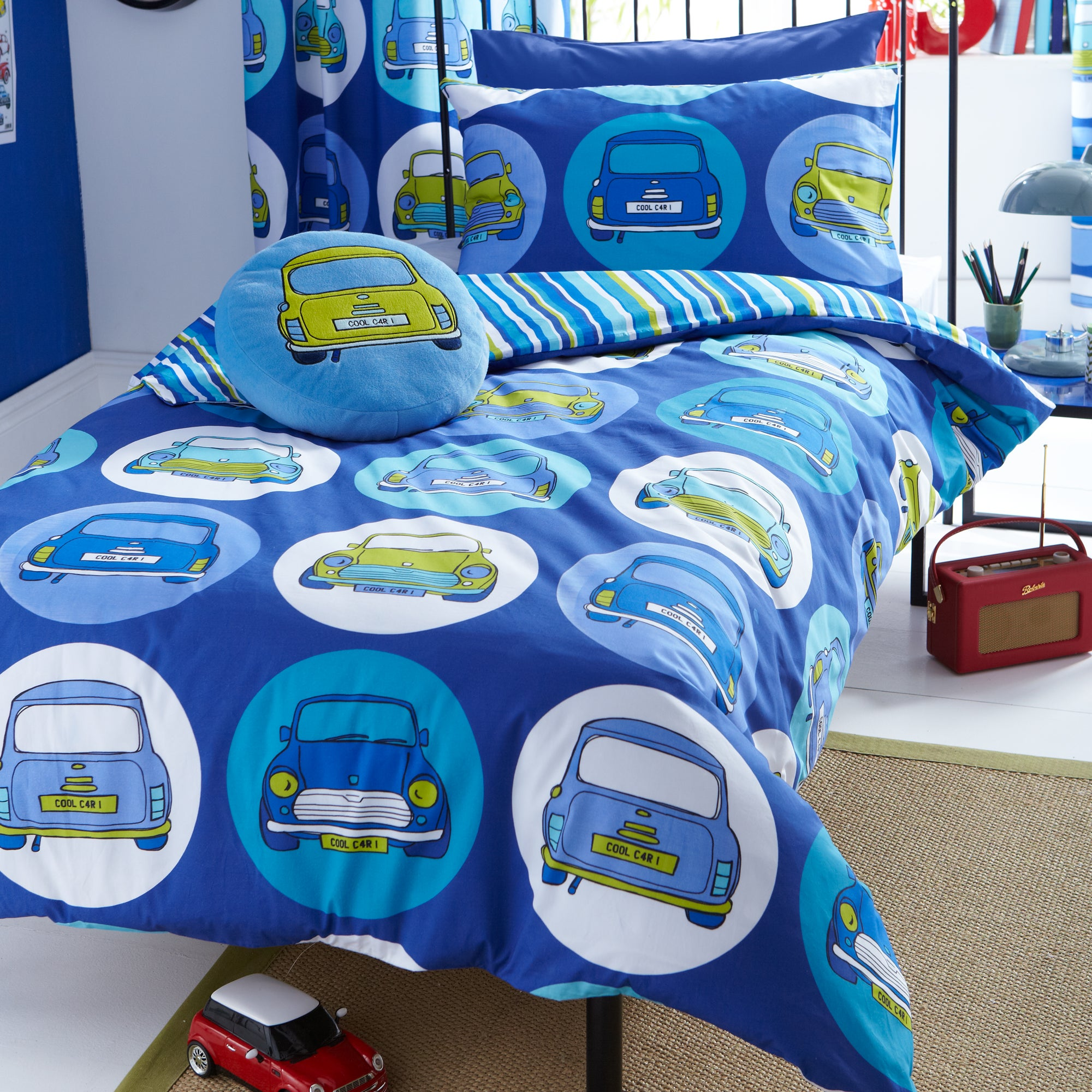 Kids Cool Cars Collection Duvet Cover Set
