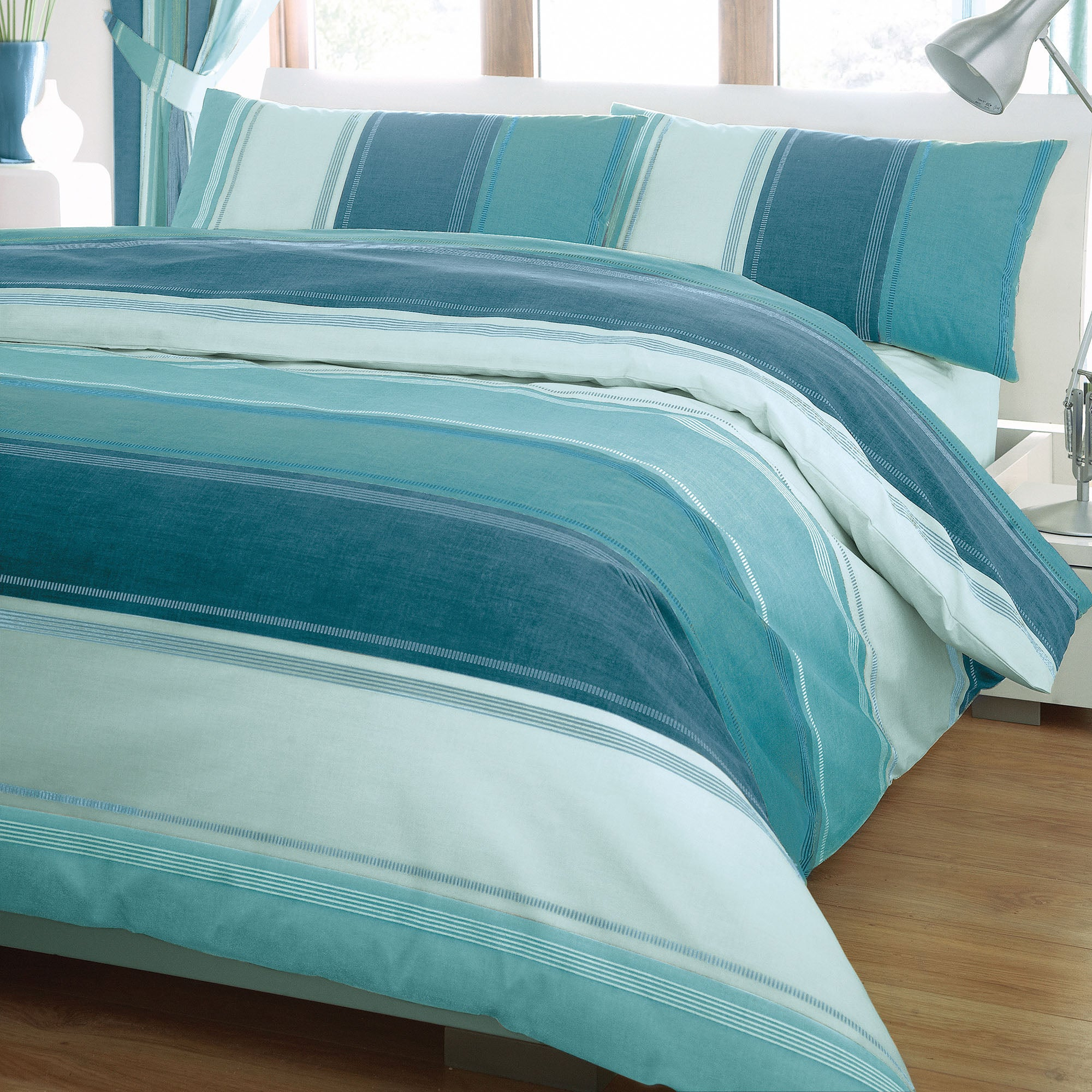 Teal Finley Collection Duvet Cover Set