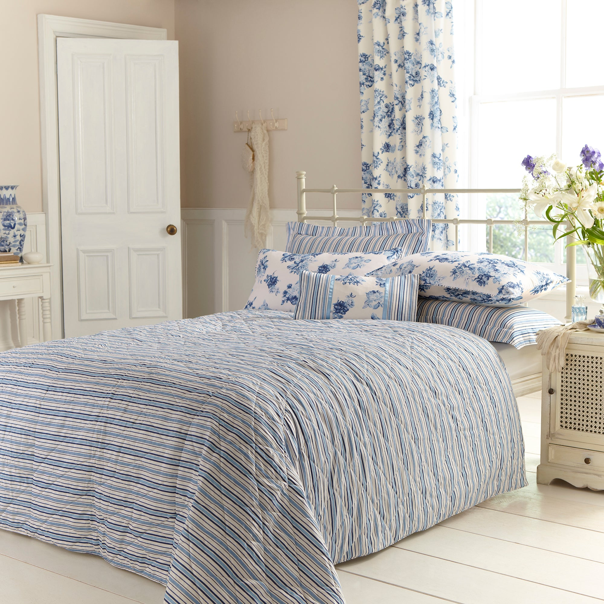 Blue Annabella Collection Bedspread