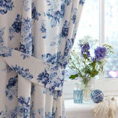 Blue Annabella Collection Curtains