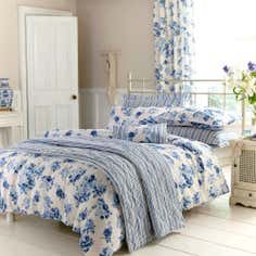 Blue Annabella Collection Duvet Cover Set