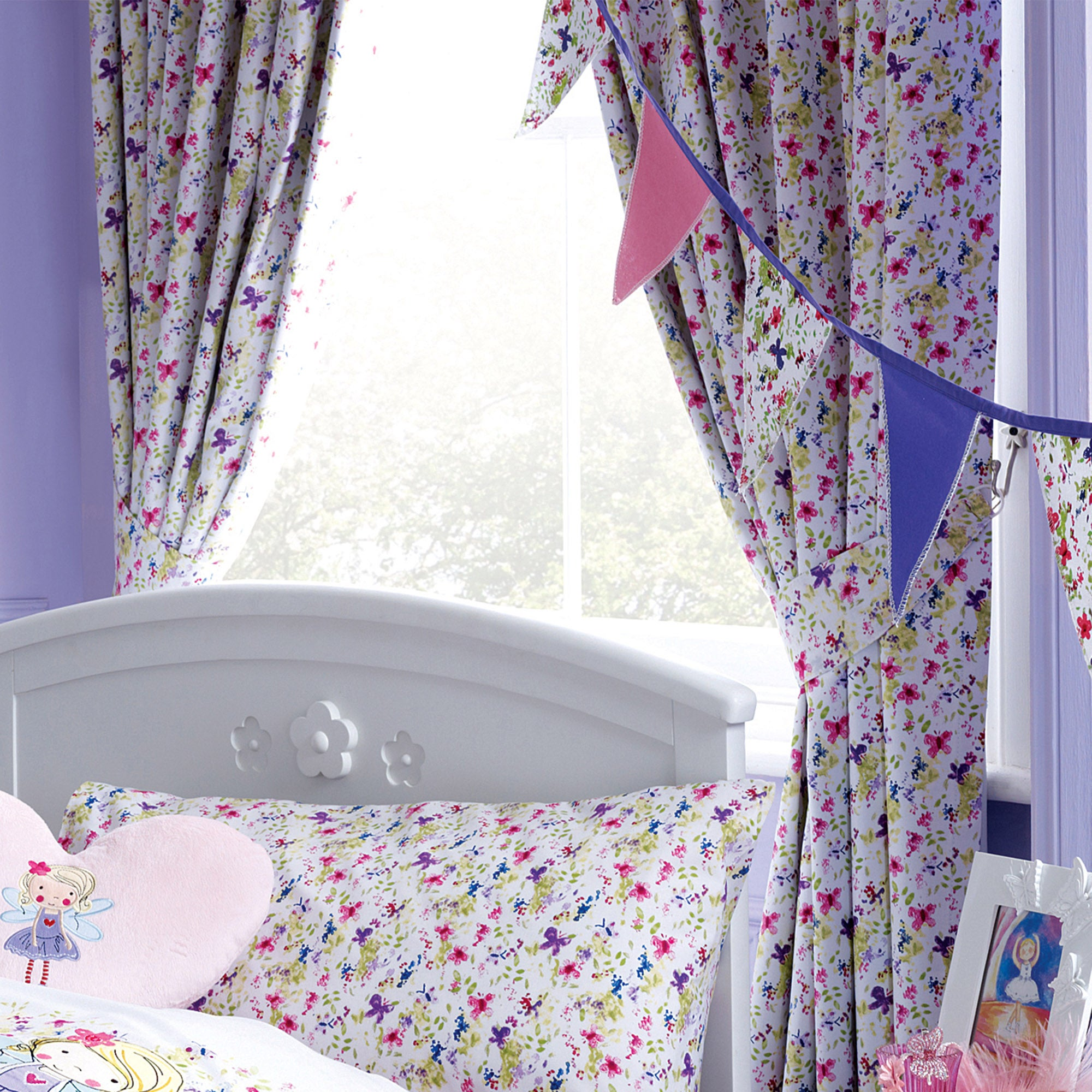 Kids Lillybelle Collection Blackout Pencil Pleat Curtains