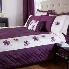 Plum Louisa Collection Bedspread