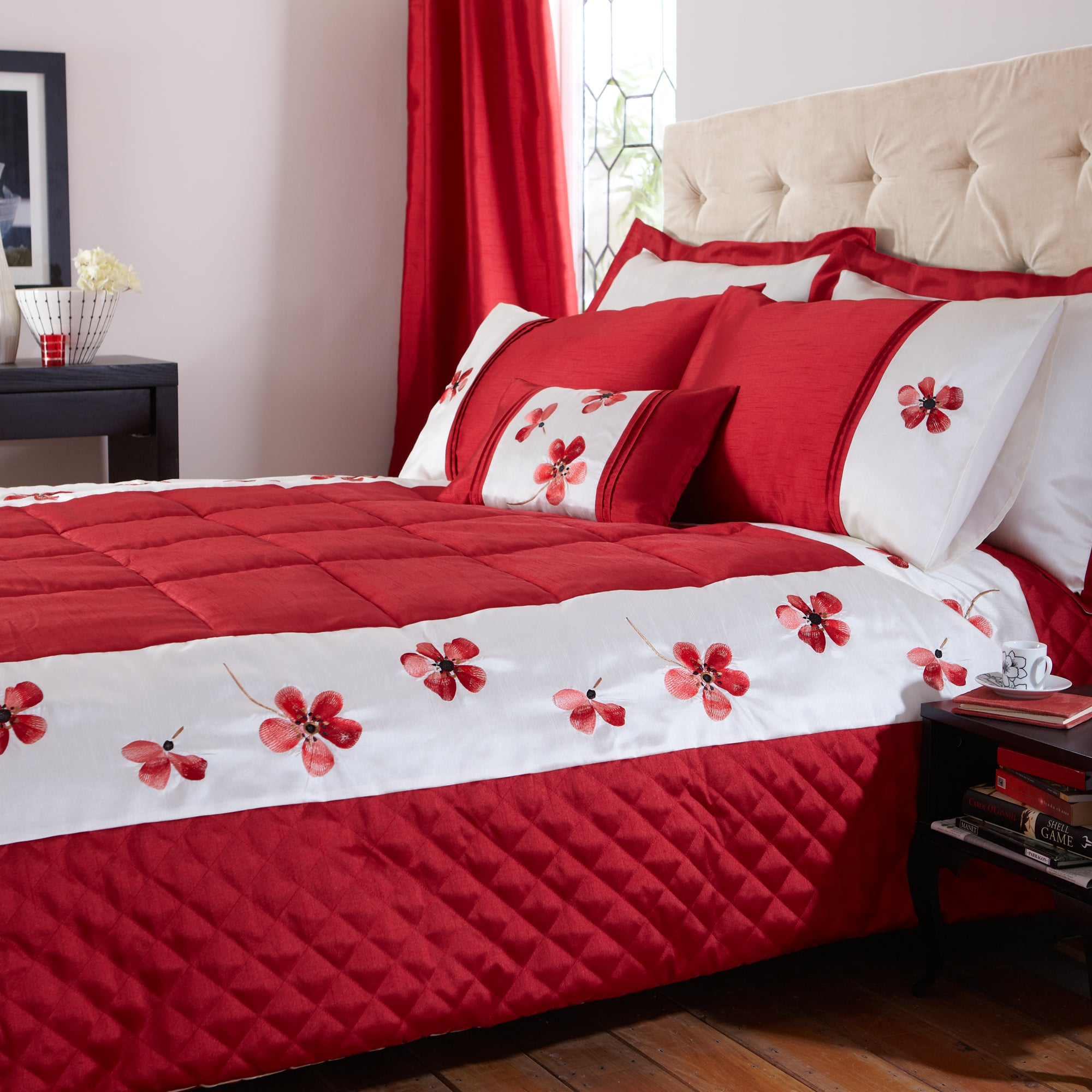 Red Louisa Collection Bedspread