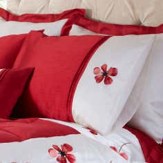 Red Louisa Collection Housewife Pillowcase