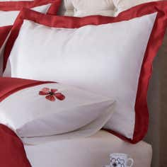 Red Louisa Collection Oxford Pillowcase