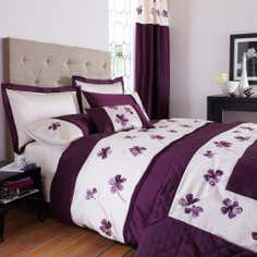 Plum Louisa Collection Duvet Cover