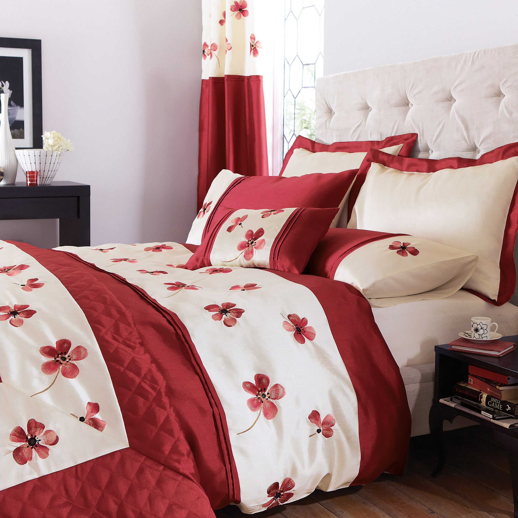 Red Louisa Collection Duvet Cover