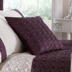 Plum Nouveau Rose Collection Cushion
