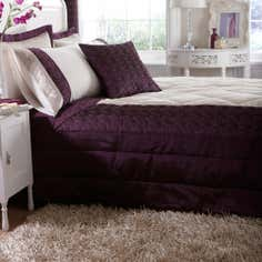 Plum Nouveau Rose Collection Duvet Cover