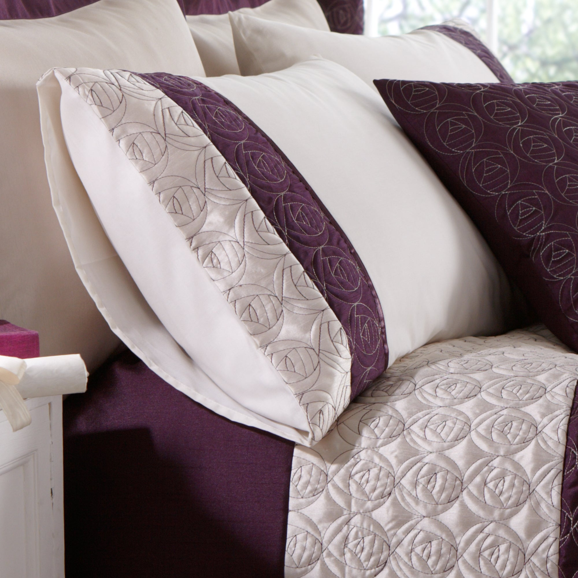 Plum Nouveau Rose Collection Housewife Pillowcase