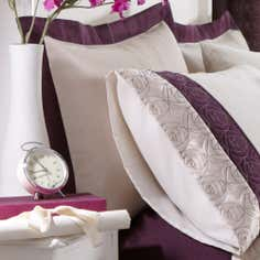 Plum Nouveau Rose Collection Oxford Pillowcase